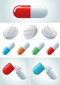 Pills icon set. vector illustration icon set. Easy editable CMYK vector file.