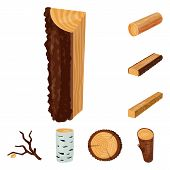 Isolated Object Of Signboard  And Wood Icon. Collection Of Signboard  And Wooden Vector Icon For Sto poster