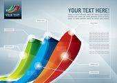 Abstract presentation background. All elements are layered separately in vector file. Easy editable