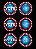Election Badges Collection. Vector Symbol Set