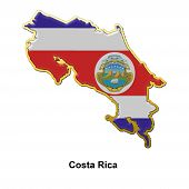 Costa Rica Metal Pin Badge