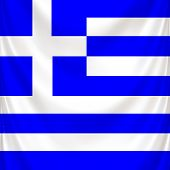 Flag of Greece, square and draped