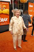 LOS ANGELES, CA - FEB 19: Betty White at the 'Dr. Suess' The Lorax' premiere at Universal Studios Hollywood on February 19, 2012 in Los Angeles, California