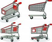 Shopping Cart or Trolley from Several Positions