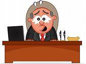 Business Cartoon - Boss Man Crying