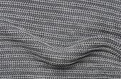 Close Up Gray Knitted Pullover Background