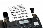 Fax Machine With Dismissal Notification