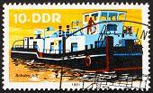 Postage Stamp Gdr 1981 Tugboat, River Boat