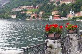 The small town of Menaggio at Lake Como in Italy