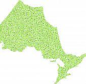 Decorative map of Ontario - Canada -