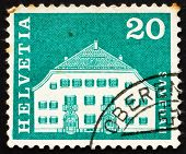 Postage Stamp Switzerland 1968 Planta House, Samedan, Switzerland