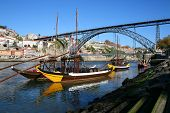 Brige Over The Douro River In Portugal