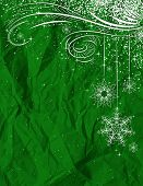 Green Christmas Background, Vector