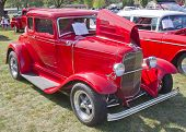 Red 1930 Ford Coupe