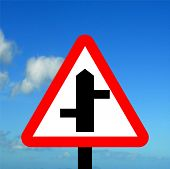 Staggered Junction road traffic sign