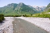 the Shale River in Theth National Park, Albania