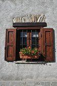 Window Of An Alpine House