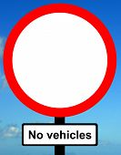No vehicles except bicycles when being pushed