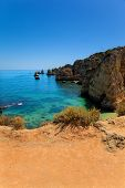 View of Dona Ana beach at Lagos, Algarve, Portugal
