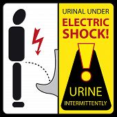 Urinal Under Electric Shock - Urine Intermittently
