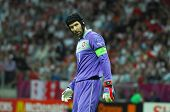 WARSAW - JUNE 21: Petr Cech goalkeeper of Czech Republic Football National Team during the match Cze