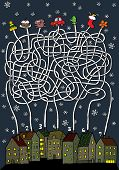 picture of bear tracks  - Christmas Maze Game  - JPG