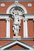 picture of flambeau  - classic ancient statue of woman in front of a building in Odessa - JPG
