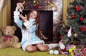 girl in Snow-maiden costume