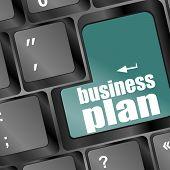Business Plan Word Key On Computer Keyboard