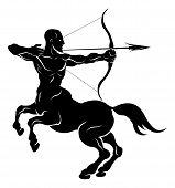 Ilustração de Arqueiro Centauro estilizada