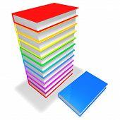 Colorful Books Pile