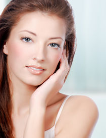 pic of beautiful woman face  - Natural health beauty of a woman face  - JPG