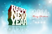 Vector 3d Happy New Year design template. Elements are layered separately in vector file.