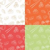 Sushi Seamless Patterns