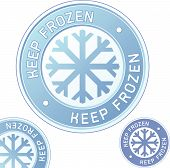 Keep Frozen Food Product Label