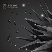 Origami abstract vector background