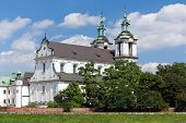 picture of stanislaus church  - view on skalka church in old town of cracow in poland - JPG