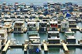 stock photo of houseboats  - Houseboats in Marina  - JPG