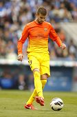 BARCELONA - MAY, 26: Gerard Pique of FC Barcelona during the Spanish League match between Espanyol a