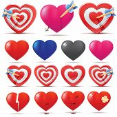 stock photo of love hurts  - Hearts collection - JPG