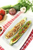 Stuffed Courgette With Ground Beef And Cheese
