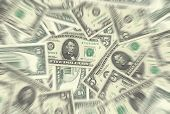 5 Dollar Notes Texture Radial Blur