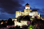 Castle In Trencin At Night, Slovakia
