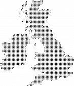 Verenigd Koninkrijk Dot kaart