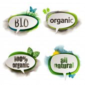 Organic labels, eps10 vector