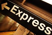 Express Track On The New York Subway