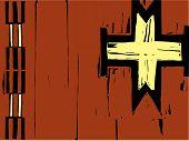 Native American Patterning Cross
