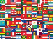 Background With Some Of World Flags