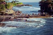 pic of tanah  - Tanah Lot Temple on Sea in Bali Island Indonesia - JPG