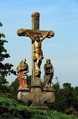 Stone cross with Crucified